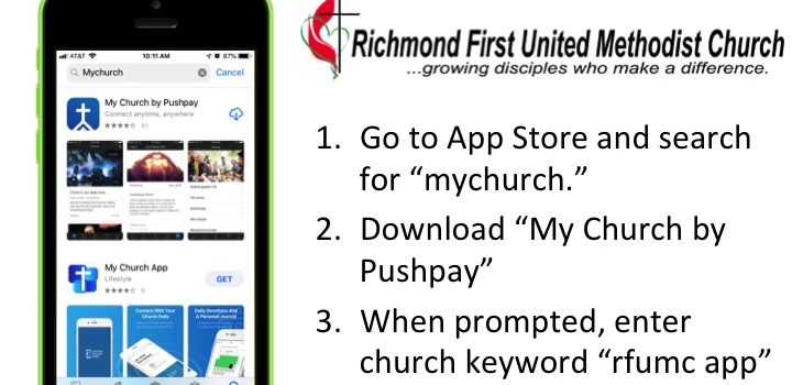 Get the new Richmond FUMC MyChurch app!