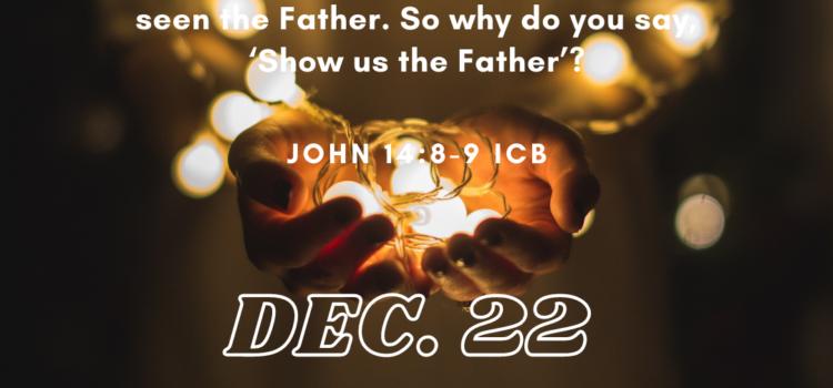 Advent Devotional: Tuesday, December 22, 2020